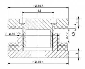 Conector simetric reglabil sticla 8-12 mm1