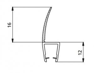 Garnitura ultraclara cu banda 16 mm la 180° cabina dus sticla 8 mm1