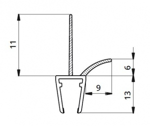 Garnitura ultraclara cu banda pe mijloc 11 mm cabina dus sticla 8 mm1
