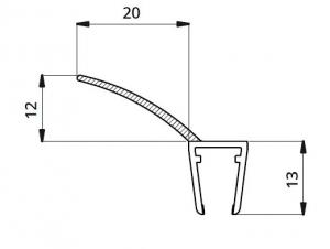 Garnitura ultraclara cu banda flexibila cabina dus sticla 8 mm1