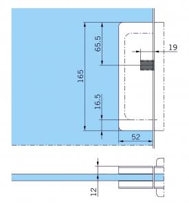 Contraplaca sticla GK 50 - pentru US 20 - Dorma Mundus Comfort2