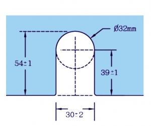 Zavor inferior/superior cu buton GL 522