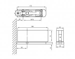 Balama pardoseala cu amortizor incorporat HGT 1001
