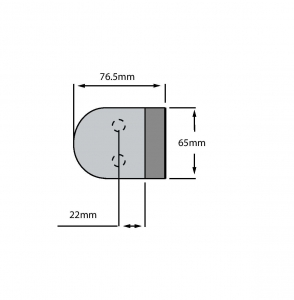 Contrabroasca ovala usa sticla 8-10 mm1