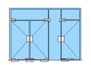 Incuietoare de colt (pardoseala) RD-100LD3