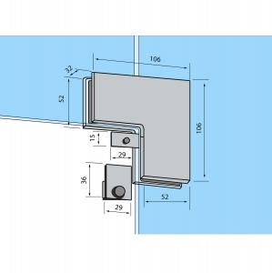 Conector de colt sticla/sticla RD-601