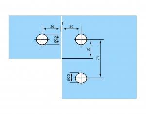 Conector de colt sticla/sticla RD-602