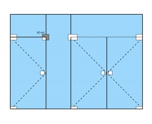 Conector de colt sticla/sticla RD-603