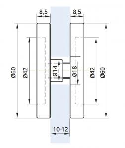 Maner scoica Ø60 mm, sticla 10-12 mm1