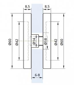 Maner scoica Ø60 mm, sticla 6-8 mm1