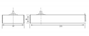 Amortizor pardoseala blocare la 90° EN 1-2 GTS 6502