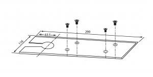 Amortizor pardoseala blocare la 90° EN 1-2 GTS 6501