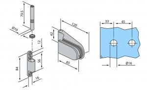 Balama aplicata usa sticla 8-10 mm2