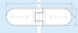 Balama cabina dus sticla/sticla 180°1