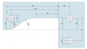 Balama coltar supralumina PT 40 - Dorma Universal Light2