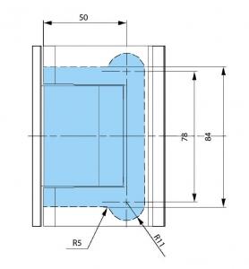 Balama hidraulica Biloba cu amortizare incorporata perete/sticla1