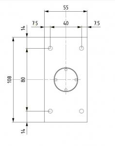Balama hidraulica Biloba cu amortizare incorporata perete/sticla3