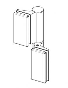 Balama hidraulica Biloba EVO cu blocare 90°/180° fixare pe sticla1