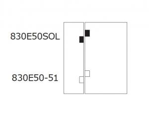 Balama hidraulica Biloba EVO cu blocare 90°/180° fixare pe sticla4