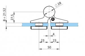 Balama hidraulica Biloba EVO SOL fara blocare fixare pe sticla3