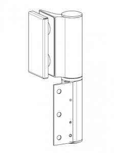 Balama hidraulica Biloba EVO Frame cu blocare 90°/180° fixare pe toc aluminiu1