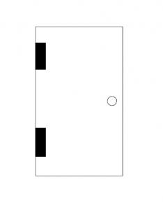 Balama hidraulica Biloba EVO Frame cu blocare 90°/180° fixare pe toc aluminiu3