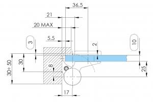 Balama hidraulica Biloba EVO Frame cu blocare 180° fixare pe toc aluminiu4