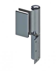 Balama hidraulica Biloba EVO Frame cu blocare 180° fixare pe toc aluminiu0