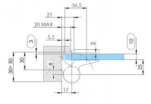 Balama hidraulica Biloba EVO SOL Frame fara blocare fixare pe toc aluminiu3