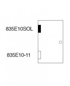 Balama hidraulica Biloba EVO SOL Frame fara blocare fixare pe toc aluminiu4