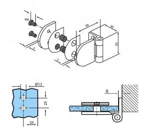 Balama perete/sticla usa armonica [3]
