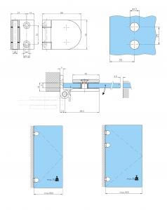 Balama perete/sticla usa armonica [1]