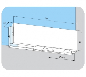 Balama inferioara PT 10 - Dorma Universal Light2