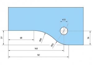 Balama dreapta supralumina PT 30 - Dorma Universal Light2