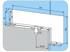 Balama coltar supralumina PT 40 - Dorma Universal Light1