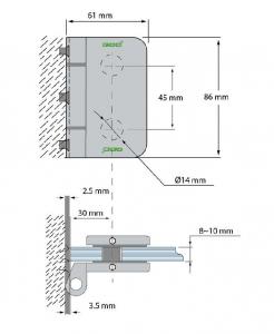 Balama incadrata usa sticla 8-10 mm1