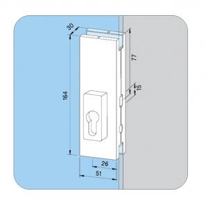 Incuietoare de centru US 20 - Dorma Universal Light3