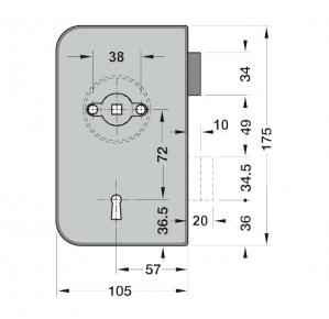 Broasca Dorma Junior Office incuiere din cheie usa sticla 8-10 mm3