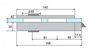 Broasca ovala pentru cilindru usa sticla 8-10 mm4