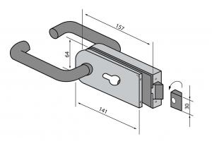 Broasca pentru cilindru usa sticla 8-10 mm [1]