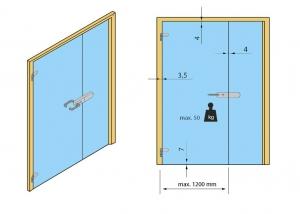 Broasca pentru cilindru usa sticla 8-10 mm [4]