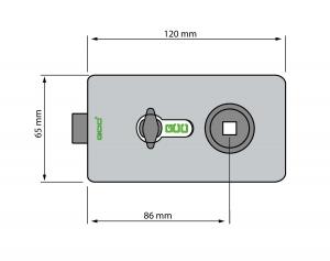 Broasca rectangulara pentru cilindru usa sticla 8-12 mm2