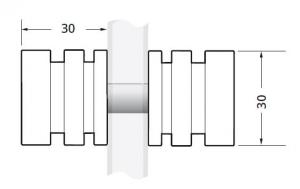 Buton usa cabina dus sticla 6-12 mm1