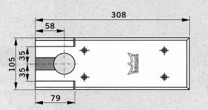 Capac acoperire amortizor pardoseala Dorma BTS 75V1