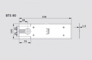 Capac acoperire amortizor pardoseala Dorma BTS 801