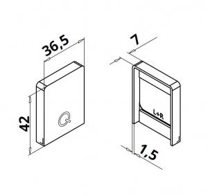 Capac capat profil mana curenta Easy Glass® Hybrid stanga-dreapta1