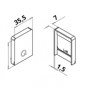 Capac capat profil U balustrada Easy Glass® Hybrid stanga-dreapta1