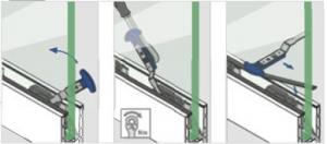 Cheie Q-disc® montaj cale/garnituri profil U balustrada Easy Glass® Smart1