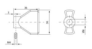 Cilindru baie Dorma pentru broasca usa sticla 8-10 mm2