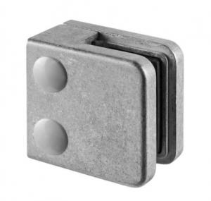 Clema MOD 21 fixare pe drept pentru montant balustrada sticla 6-10 mm0